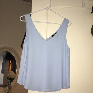 XXI | baby blue satin v top